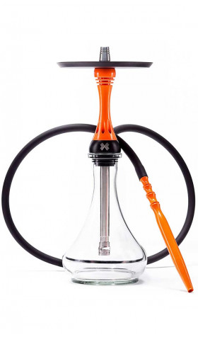 Alpha Hookah Model X - Orange Neon