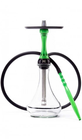 Alpha Hookah Model X - Green Neon