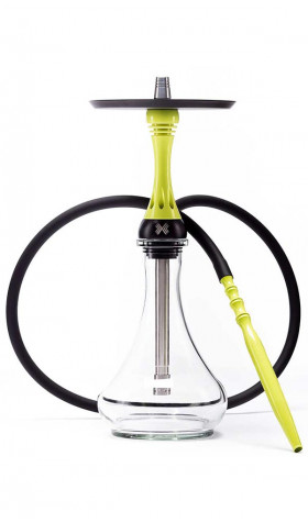 Alpha Hookah Model X - Yellow Neon