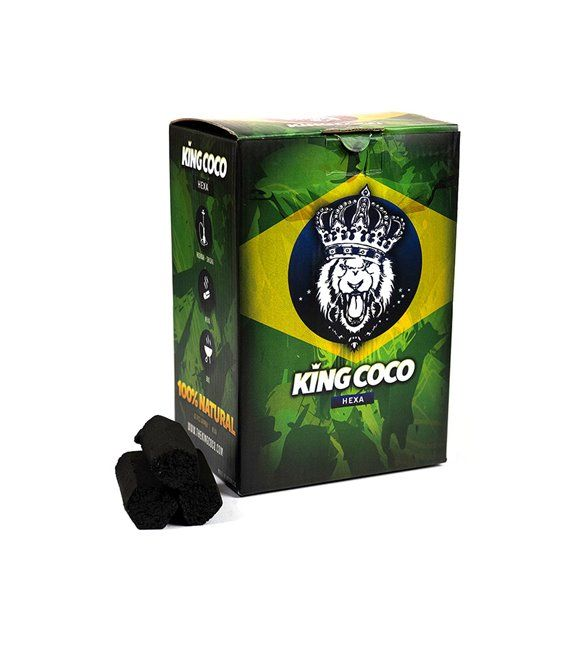 Carbón King Coco Hexagonal 1kg