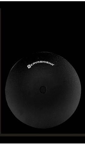 Kaya Plato de aluminio - black