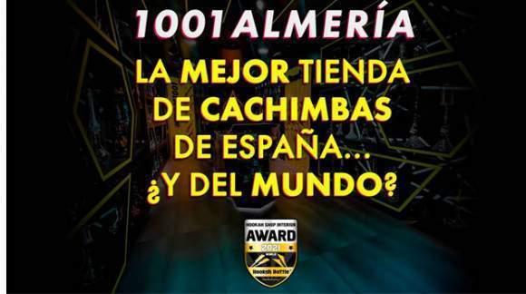 Ganadores de HOOKAH SHOP INTERIOR AWARD 2021 SPAIN, tenemos la mejor tienda de cachimbas de España.